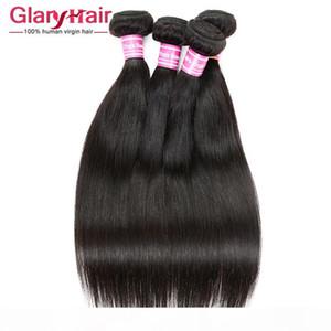 Venta al por mayor Remy Human Hair Weave UK 8A Brasileño peruano Malasia India Mongolian Camboya Cámara Raw Virgin Pelo Recto trenzado Bunldles