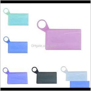 Bags Housekeeping Home & Garden Drop Delivery 2021 Sile Box Disposable Masks Storage Clip Portable Mask Holder Waterproof Face Shield Organiz