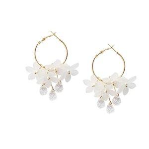 3UMeter 2021 Tassel Earrings Trendy Acrylic Water Drop Women Dangle Crystal Flower Long Pendant For Jewelry Gifts Hoop & Huggie