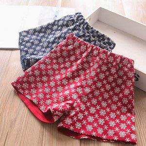 Shorts Children Summer Girls Clothes Cotton Fashion Kids Pants Casual Embroidery Flower 2-7Y B4895
