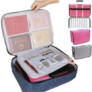 HBPBig Capacity Document Insert Handbag Travel Bag Pouch ID Credit Card Wallet Cash Holder Organizer Case Box Accessories Q0112
