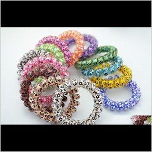 Rubber Bands Wholesale Enlarge Printing Leopard Star Rings Telephone Wire Cord Band Child Girls Elastic Hair Tie Ring Rope Bracelet Ge Utegx