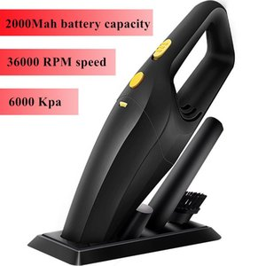 Handheld Wireless Vacuum 6000Pa Powerful Cyclone Suction Rechargeable Car Cleaner Wet Dry Auto For Home With The Base