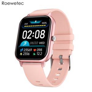 KT50 Smart Watch Big 1.7-дюймовый дисплей экрана BT Вызов IP67 водонепроницаемый ECG сердечная скорость кровяного давления кислород Спорт SmartWatch Dual UI розовый цвет