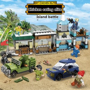 Six in one Compatible splicing blocks Island competition game Assembling model toys Children's Day gifts