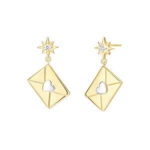 Dangle & Chandelier Creative Heart Envelope Earrings Personality Inlaid Zircon For Women Girl Party Fine Jewelry Gifts