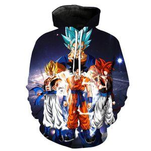 New Cartoon Hoodies 3D Goku Vegeta Sweatshirt Women Funny Tracksuit 2020 Fashion Hoodie Streetwear Casual Men Clothing