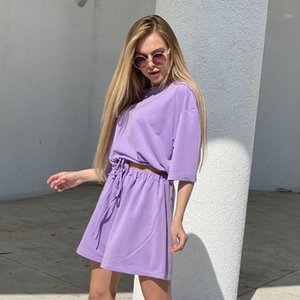 Casual Women Summer Clothes Tracksuit 2 Piece Set Crop Top T Shirt And Shorts Two Piece Outfits Sweat Suit New AS410971