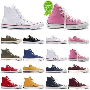 {Red} Lona de Alta Qualidade 1970s Correndo Sapatos Homens Mulheres Triple Preto Branco Vermelho Red Low Top Mens Trainers Sport Sneakers