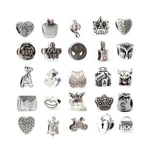 Ajuste de la aleación aleatoria 500 unids Ajuste para la pulsera de Pandora Brazalete de la cadena de la cadena de serpientes Brazalete La joyería de moda haga su propio