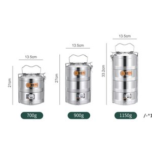 Large 2 3 4 Layer Stainless Steel Thermos Lunch Box Portable Thermal Insulation Food Container Office Picnic Bento Box sea shipping NHD8239