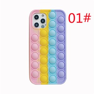 Cell Phone Cases Applicable to iPhone12 mobile case, Apple 11 creative rainbow mouse control pioneer silicone soft shell 12 protective case