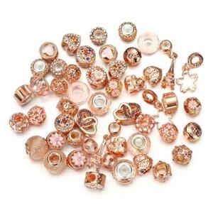DIY Bracelet&Necklace Style Big Hole Loose European Pandora For Beads Fashion Jewelry Mix For Charm Bracelet 50pcs set Kuxvb