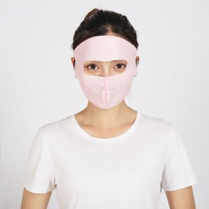 Men Sun Protection in Spring and Summer Scarf Neck Women's Cover Face Ice Silk Cotton Mask Women