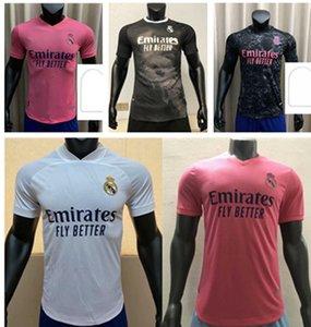 20 21Thailand Real Madrid Futbol Formaları 2021 # 7 Tehlike # 9 Benzema Eve Uzaktan 20/21 Erkekler Futbol Gömlek Spor Üniformaları