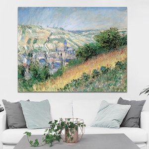 Monet Painting Famous Abstract Water Lilies Wall Painting Green and Blue Wall Art Home Decor Printed Painting