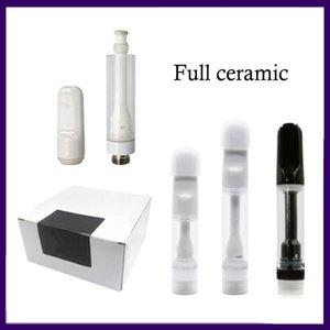 Full Ceramic 510 Vape Cartridge Lead Free Disposable Vape Pen E Cigarettes Vape Carts Packaging 0.5ML 0.8ML 1ML Thick Oil Atomzier