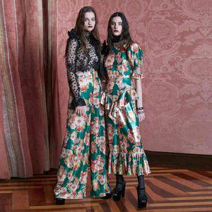 Платье XF HAWAII Party Party Milan Fashion Holiday переехал из шеи тонкий летний бого дас одежда женщин