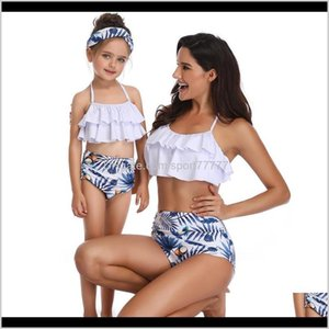 Two-Piece Suits Equipment Water Sports & Outdoors Drop Delivery 2021 Matching Family Mother Girl Bikini Women Swimsuit Children Baby Kid Beac
