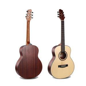 36 Inch Acoustic Guitar Mahogany Mini Travel Folk Guitarra For Female Male Beginners AGT341
