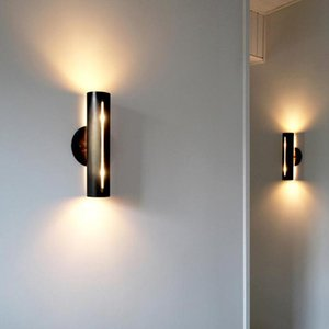 Wall Lamps Nordic Living Room Copper Bedroom Bedside Lamp Aisle Staircase Sconce Simple Retro LED Light Designer Fixtures
