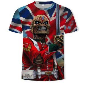 Tshirt Men T-shirts 3D Print Fashion Summer Schedel Men Heavy Metal Grim Reaper Short Mouw Harajuku Style Streetwear Tops tea
