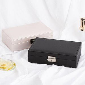 Multi-Function Portable Jewelry Storage Box Cross-Border Earring Ring Necklace Bracelet Orgnization Two Colors Optional