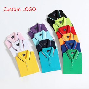 2021 business casual solid color Polo shirt can be customized logo T-shirt men's sleeves stripes are thin Manly Society men's fashion plaid