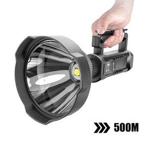 Güçlü LED El Feneri Taşınabilir XHP70.2 Torch USB Şarj Edilebilir Projektör Baz Balıkçılık Işık Fener Ile Su Geçirmez Spot Işık