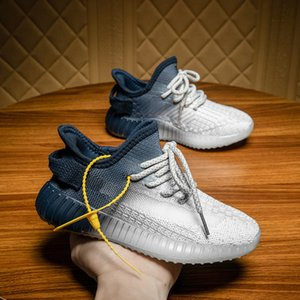Kids Designer Sneakers Hiphop Brand Kanye Style Running Shoes for Boys Girls Teens Black White Breathable Children Size Eur 25-36