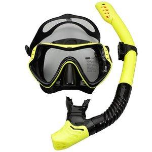 Snorkels Professional Swimming Diving Scuba Tube مكافحة الضباب والتنفس قناع سهلة نظارات مجموعة نظارات مكافحة أقنعة