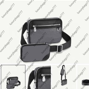 postman luxury bag Shoulder Bags designer design fashion 0018 hanBags Double Crossbody Black is easy to carry Smallbag can be removed SIZE 23 15 4