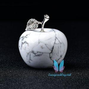 자연 치유 크리스탈 화이트 라이트 입상 과일 조각 홈 장식