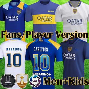 2020 2021 Maglie da calcio Boca Juniors DE ROSSI TEVEZ BOCA 20 21 Camiseta CARLITOS MARADONA Maglia da calcio ABILA kit attrezzatura boca jrs