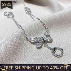 g Luxury Brand Necklace Ladies 1:1 Dragonfly Pendant High Quality 925 Sterling Silver Wild Fashion BirthdayOTUF