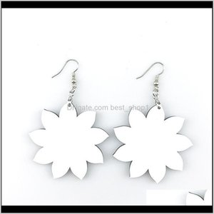 Favor Sublimation Blank Earrings Thermal Transfer Printing Star Heart Flower Leaf Shaped Diy Earring Gift Party Favors Zzc3584 Yldiv Nhrfz