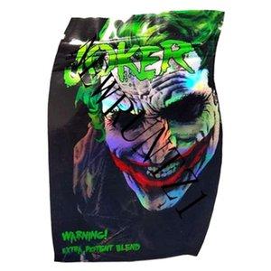 JOKER Mylar Bag resealable Retail Zipper Package empty edibles plastic dry herb packaging