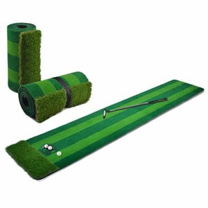 Golf Putting Mats Practice Greens Artificial Blanket Sets Training Aids