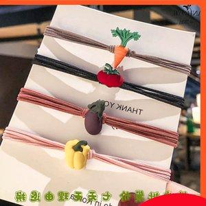 Dongdamen Headband Fruit e Vegetal Cabelo Coreano Versão Coreana Pequena Borracha De Borracha Cabelo Corda Jóias Girl