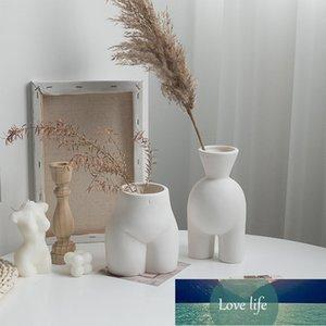 Body Art Vase Ins Vaso in ceramica Vaso creativo Pianta Pentole Decorazione decorativa Decorazioni per la casa Decor Vaso Tavolo Ornamenti Soggiorno
