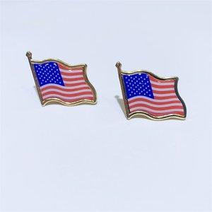 10 unids / lote americano bandera solapa estados unidos Estados Unidos hat corbata tachuela insignia alfileres mini broches para bolsas de ropa Decoración 675 T2