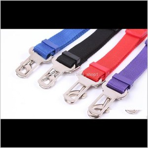 Collars Leashes Adjustable Pet Cat Dog Safety Harness Vehicle Seatbelt Lead Leash For Dogs 5 Colours Seat Belt Clipdog Car Seatbe 100 Iuv3X