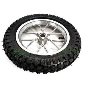 Шины мотоциклов шины 12,5 x 2,75 заднее заднее заднее колесо + шина шины передняя часть 47 49cc Mini Pit Capory Pocket Dirt Bike