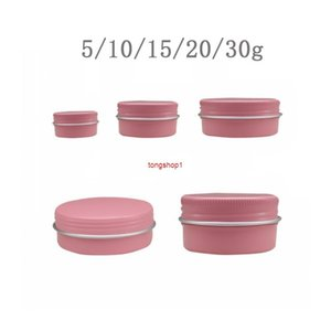 Factory 5g 10g 15g 20g 30g Empty 50pcs Aluminum Jar Cosmetic Makeup Cream Lip Balm Gloss Metal Tin Candle Containers Pot Canfree shipping it