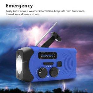 Radio di emergenza radio AM / FM / NOAA Solar a manovella con luminoso, Allarme SOS e 2000mAh Power Bank per la famiglia, EME