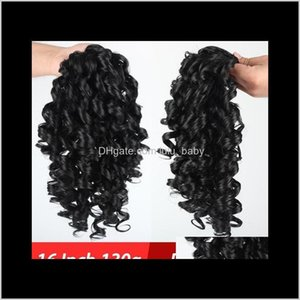 16Inches Long Afro Curly Drawstring Ponytail Synthetic Hairpiece Pony Tail Piece For Women Fake Bun Clip In Extension Grhi8 Ponytails M9Vgx