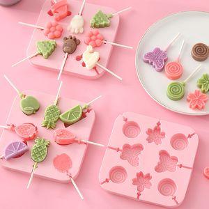 DIY Cartoon Kitchen Tools Silicone Ice Mold Creative IceCream IceBox Lollipop IceCreams Molds Homemade Cube