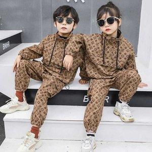 Abbigliamento per bambini Net Red Suit Primavera e Autunno Abbigliamento 2021 Nuovo Zhongda Moda Coreana per bambini Tempo libero Tempo libero Two Piece Suit Uomo e donna