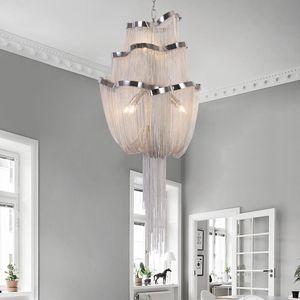 Новое поступление французской конструкции люстра светлая старинная алюминиевая цепная цепная подвеска блеск блеск для ресторана отель Art Studio Студия Спальня лампы