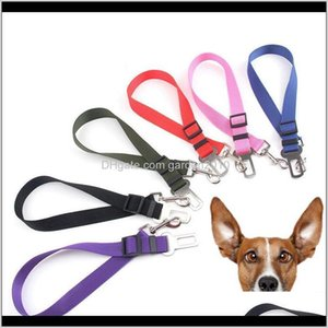 Collars Leashes Supplies Home Garden Drop Delivery 2021 Car Vehicle Pet Seat Safety Belt 2Dot5Cm Width Adjustable Length Dog Seatbelt Chain H